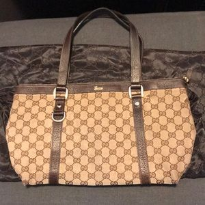 Authentic Gucci Top Zip Handbag w/ Dust Bag